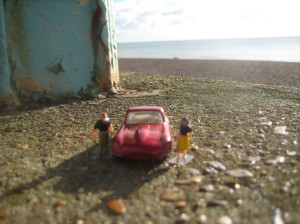 Little Peoplecb and Matchbox Toy car go to brighton