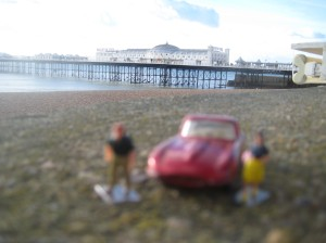 Little Peoplecb snd Mastchbox Toy Car with view of Brighton Pier2